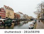 boats at copenhagen canal | Shutterstock . vector #281658398