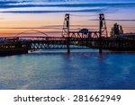 portland  oregon panorama. ... | Shutterstock . vector #281662949