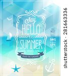hello summer poster with... | Shutterstock .eps vector #281663336