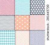 set of 9 soft neutral hand... | Shutterstock .eps vector #281665730