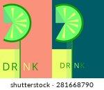drink icon. invitation card. | Shutterstock .eps vector #281668790