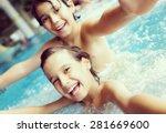 kids in pool having fun | Shutterstock . vector #281669600