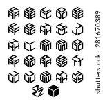 cubic alphabet set. vector... | Shutterstock .eps vector #281670389