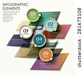 abstract trendy infographic...