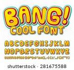 creative high detail comic font.... | Shutterstock .eps vector #281675588