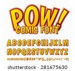 creative high detail comic font.... | Shutterstock .eps vector #281675630