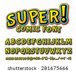 creative high detail comic font.... | Shutterstock .eps vector #281675666