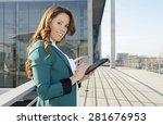 businesswoman using digital... | Shutterstock . vector #281676953