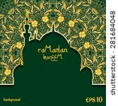 greeting background to muslim... | Shutterstock .eps vector #281684048