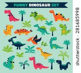 adorable set with funny... | Shutterstock .eps vector #281685998