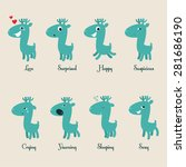 set of emotional stickers with... | Shutterstock .eps vector #281686190
