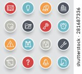 organizer contour icons with... | Shutterstock .eps vector #281687336