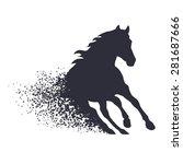 Running Horse In The Grunge...