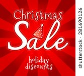 christmas sale design template. ... | Shutterstock .eps vector #281690126