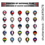 pointer of national flag around ... | Shutterstock .eps vector #281690678