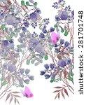 beautiful summer meadow flowers ... | Shutterstock . vector #281701748