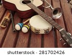 guitar and music instruments   Shutterstock . vector #281702426