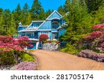custom built luxury house with... | Shutterstock . vector #281705174