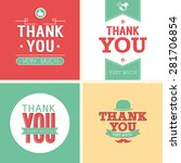 vintage card   thank you set.... | Shutterstock .eps vector #281706854