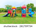 Colorful Plastic Playground On...