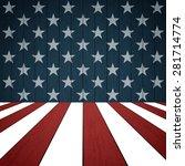american flag on wood... | Shutterstock .eps vector #281714774