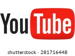 Постер, плакат: YouTube logotype printed on