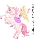 stars princess and beautiful... | Shutterstock .eps vector #281721443