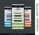 vector tag  price table design  ... | Shutterstock .eps vector #281725796