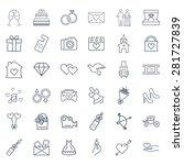 wedding icon set | Shutterstock . vector #281727839