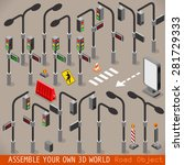 urban traffic management 3d... | Shutterstock .eps vector #281729333