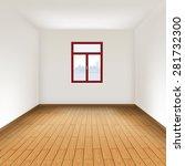 empty room with hardwood floor. ... | Shutterstock .eps vector #281732300