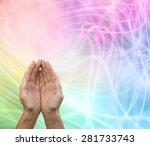 rainbow healing reiki share... | Shutterstock . vector #281733743