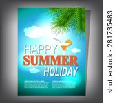 summer brochure | Shutterstock .eps vector #281735483