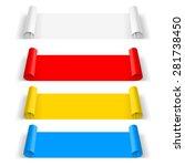 raster version. set of color... | Shutterstock . vector #281738450