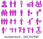 management and people... | Shutterstock . vector #281742980