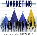 marketing advertise analysis... | Shutterstock . vector #281745116