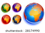 globe of the world | Shutterstock .eps vector #28174990