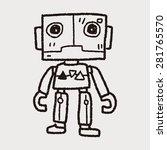robot doodle | Shutterstock .eps vector #281765570