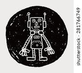robot doodle | Shutterstock .eps vector #281766749