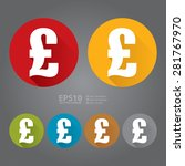 vector   circle pound currency...