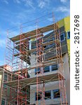 scaffolding on front of condo...   Shutterstock . vector #2817698
