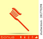 toothbrush icon  | Shutterstock .eps vector #281770298