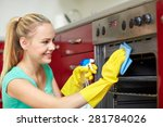 people  housework and... | Shutterstock . vector #281784026