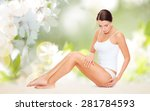 people  beauty and body care... | Shutterstock . vector #281784593