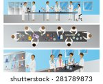 medical scientists   laboratory ... | Shutterstock .eps vector #281789873