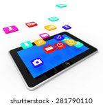 social media tablet showing... | Shutterstock . vector #281790110