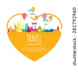 travel and tourism concept... | Shutterstock .eps vector #281792960