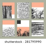creative trendy cards....   Shutterstock .eps vector #281795990
