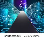 digital path showing high tech... | Shutterstock . vector #281796098