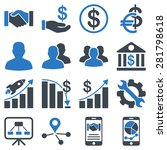 business charts and bank icons. ... | Shutterstock .eps vector #281798618